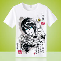 Anime Noragami Unisex Men Crewneck Otaku Casual T-shirt Tops Tee Short Sleeve