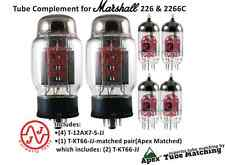 Tube Set Marshall 226 & 2266C electric guitar amp Apex Matched JJ Electronics