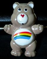 Vintage Stamped Metal Kitchen Fridge Locker Magnet CARE BEARS Cheer Bear Rainbow