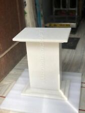 "18""H 12""x15""  White Marble Table Top Stand Base Handmade Home Decor E580(1)"