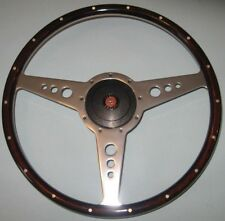 "New 15"" Wood Steering Wheel & Hub Adaptor Austin Healey Sprite Bugeye 1958-1963"