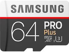 Tarjeta MicroSD - Samsung PRO Plus, 64 GB, Clase 10, 100 MB/s, UHS-I