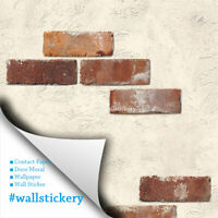 Light Brown Brick Contact Wallpaper Decorating Kitchen Cabinet Shelf Liner Paper
