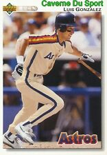 372 LUIS GONZALEZ HOUSTON ASTROS  BASEBALL CARD UPPER DECK 1992
