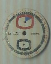 Vintage Tissot Omega Sideral Bullhead Chronograph dial