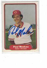 1982 Fleer Paul Moskau Cincinnati Reds Authentic Autograph COA