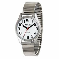 Ravel Easy Read Women's Quartz Watch With White Dial Analogue Display and Silver