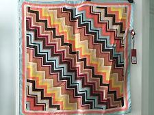 NWT Missoni for Target 100% silk colore zig zag multi-color scarf RARE FIND