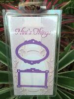Die cutting purple frame thin set stencil nini's things border shape ninis
