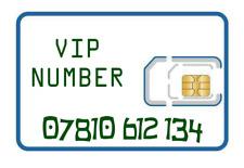 VIP gold memorable EASY NUMBER sim card 07810 612 134. Vodafone