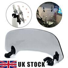 Motorcycle Universal Windshield Clip Wind Screen Deflector Extension Spoiler UK