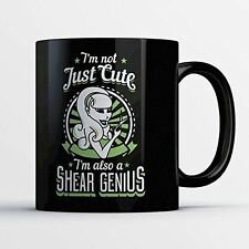 Hair Stylist Coffee Mug - Shear Genius - Funny 11 oz Black Ceramic Tea Cup - Cut