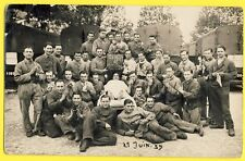 cpa Photo JUIN 1939 MILITAIRES SOLDATS du 27e Régiment Camions Mort du Père Cent