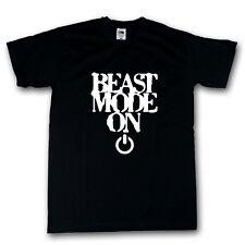 Beast Mode On T-Shirt schwarz 100% Baumwolle S-XXXXXL