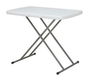Leisurewize Personal Table / Tray Adjustable Height Camping TV Dinner Computer