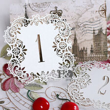No.1-10 Ivory Luxury Laser Cut Place Table Numbers Cards Wedding Birthday Decor