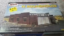 Atlas N Scale Model Railroad Building Kit 3-Stall Train Roundhouse