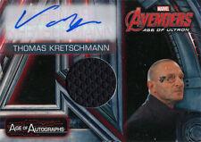 Marvel Avengers Age of Ultron Autograph Costume Card AM-TK Thomas Kretschmann