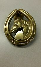 Horseshoe Door Knocker Vintage Brass Horse Head Equestrian Western Ranch Stables