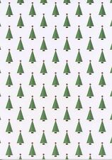 10 x A4 Sheets Christmas Trees Patterned 300gsm Card NEW