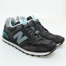 New Balance 574 Core Womens Gray Blue Suede Sneakers Size 11 / EU 43