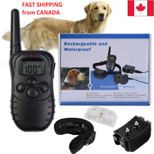 Dog Training Collar Electric Shock Anti-Bark Waterproof Remote - Fast Shipping