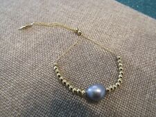 Gorjana Vienna Pearl Adjustable Bracelet gold plated