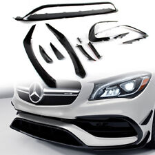 Painted Black Mercedes BENZ CLA W117 4D Front Bumper Lip + Flaps Splitter 2018