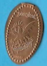 DISNEY MALEFICENT as DRAGON FASTASMIC DISNEYLAND 2004 COPPER PRESSED PENNY RETD