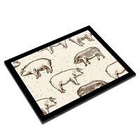 A3 Glass Frame - Pig Pattern Farm Farmer Butcher Art Gift #12362