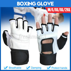 Boxing Gloves Fighting Sparring Punch Kickboxing Speed Training Half Mitts  #+