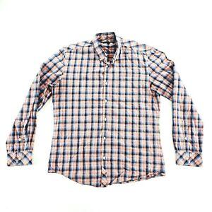 SABA Mens Plaid Long Sleeve Casual Dress Shirt Size Medium