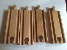 Thomas Train Compatible Track Lot Of 4 (4 Inch Straight Pieces)