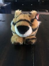 """Swibco Puffkins Tipper the Tiger 4"""" Plush Stuffed Animal w/ Pellets Toy"""