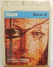 CARTRIDGE TRACK TAPE CASSETTA STEREO 8 GIORGIO CARNINI ALL'ORGANO THOMAS 1970