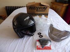 NOLAN N40 CLASSIC GLOSS BLACK OPEN FACE MOTORCYCLE HELMET SIZE M - NEW OTHER