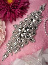 S01A  Rhinestone Crystal  Applique for Bridal Sash, Wedding Dress Belt applique