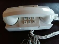 Vintage Gte Ae Push Button White Wall Telephone- Untested