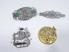 """4 PERIOD PIECES OF ART DECO FASHION JEWELRY """"AS IS """""""