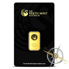 5 Gram Perth Mint .9999 Fine Gold Bar - Sealed in Assay Card