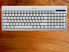 Comfortable Wired Usb Full Size Corded Keyboard for Pc/Mac Laptop Desktop White