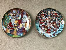 """Franklin Mint Santa Claws & Not A Creature- Collector Plates Bill Bell 8"""""""