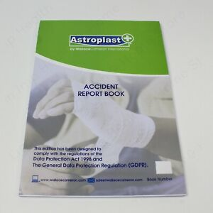 Accident Report Book - Large Size - A4. HSE Good Practice Item GDPR Compliant