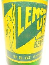 vintage ACL Soda POP Bottle:  full lemon soda LEMON UP of DETROIT, MI - 32 oz