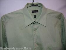 ARROW Satin Twill Wrinkle Free Long Sleeve Green Dress Shirt Size Large 16.5 NEW