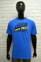 Maglia KAPPA Uomo Taglia Size XL Maglietta Shirt Man Manica Corta Cotone Blu