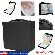 288 Discs CD DVD Bluray Storage Holder Solution Binder Book Carrying Case US