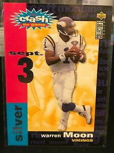 Warren Moon 1995 Collector's Choice Crash The Game #C8A