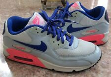 NIKE AIR MAX 90 2012 GS Girl's White Pink Blue Sneakers SZ 6.5Y #345017 116 EUC