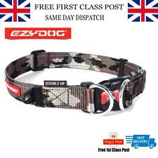 EzyDog Double Up Dog Collar Extra Strong Double D ring X-Large Free Uk P&P